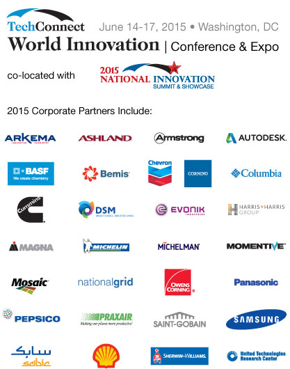 TCW 2015 Corporate Partners: Arkema, Ashland, Armstrong, BASF, Bemis, Chevron, Corning, Columbia, Cummins, DSM, Evonik, Harris and Harris,        Magna, Michelin, Michelman, Momentive, Mosaic, National Grid, Owens Corning, Panasonic, Pepsico, Praxair,  Saint-Gobain, Samsung, Sabic, Shell,        Sherwin-Williams, United Technologies Research Center