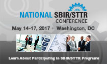 National SBIR/STTR Conference - May 14-17, 2017,  Washington, DC